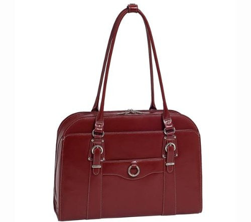 HILLSIDE Leather Ladies' Briefcase Red
