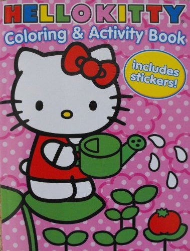 Coloring & Activity Books w/Stickers - Hello Kitty (144pg)