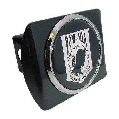 POW/MIA Black Hitch Cover