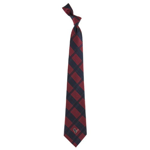Houston Texans Tie Woven Plaid