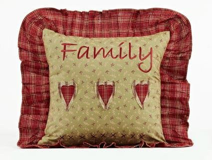Heartland Pillow Family Ruffled 16x16""