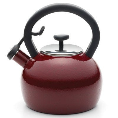 2-qt. Whistling Tea Kettle Color: Red