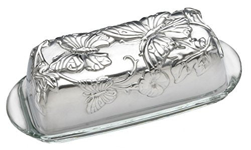 BUTTERFLY COVERED BUTTER DISH