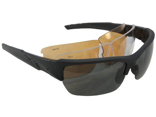 Wiley X: WX-Valor Glasses - Matte Black Frame / 3 Lens Package (Smoke Grey / Clear / Light Rust)
