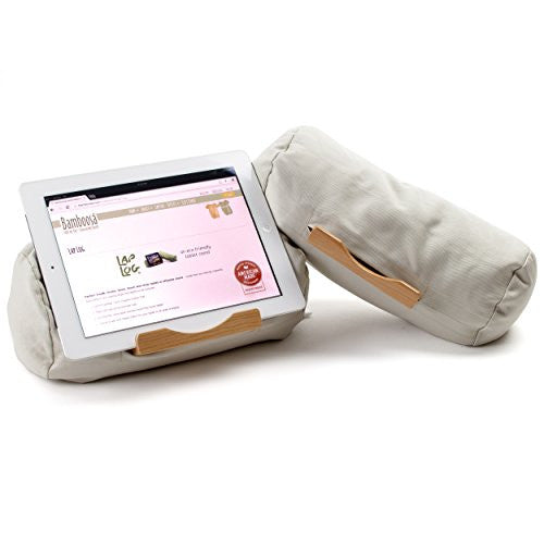 Lap Log Classic - iPad Stand / Touchscreen Tablet Holder - Good for Reading in Bed - Top Rated on Amazon - Made in USA - Stone Khaki