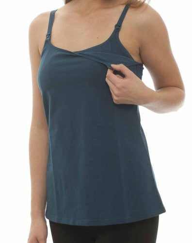 Long Nursing Cami: Ink Blue, Large