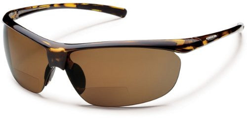 Zephyr Tortoise with +2.50 Brown Polarized Polycarbonate Lens