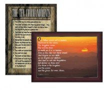 The Ten Commandments & Lord's Prayer Poster Sets
