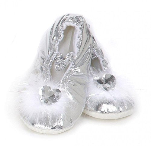 Princess Slippers, Silver, M