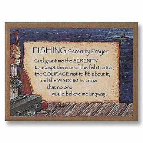 Fishing Serenity Prayer Plaque