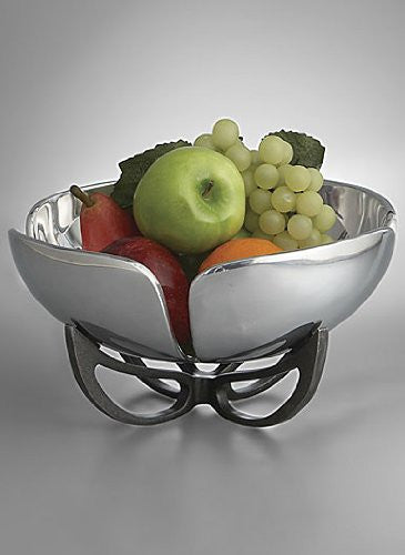 Nambe 11-inch Anvil Petal Fruit Bowl