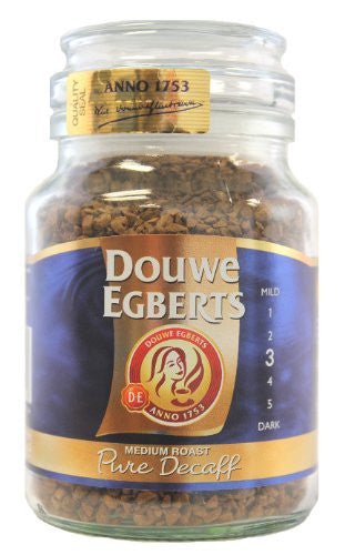 Douwe Egberts Pure Decaf Instant Coffee in jar