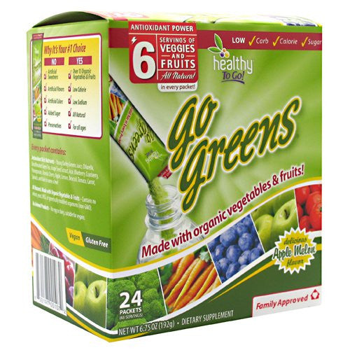 Healthy To Go! Go Greens Apple Melon 24 - packets 6.75 oz (192 g)