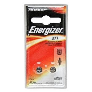 Energizer 1.5V 377 Silver Oxide Button Cell Battery - 2 Count Blister Pack