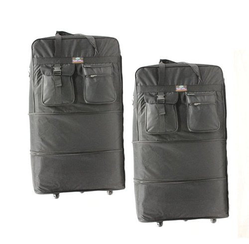 "600D Polyester, Expandable Wheel Bag, 40"" x 24 1/2"" x 14 1/2"", Black"