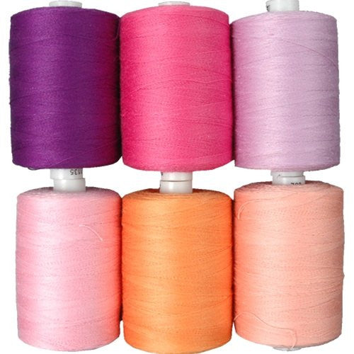 Cotton Thread Set - 6 Pastel Tones - 1000M