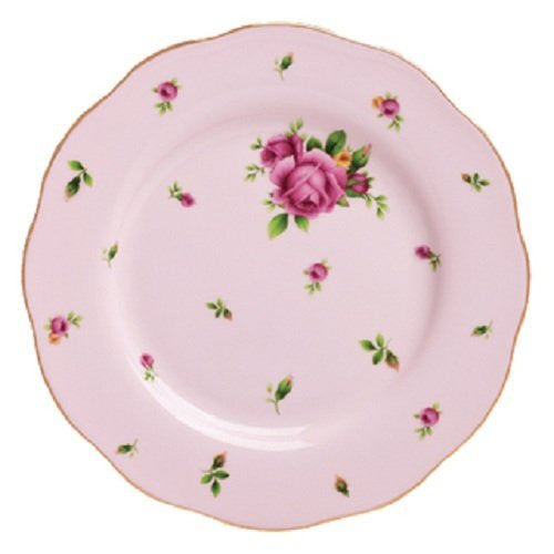 NEW COUNTRY ROSES PINK VINTAGE SALAD PLATE 8.3""