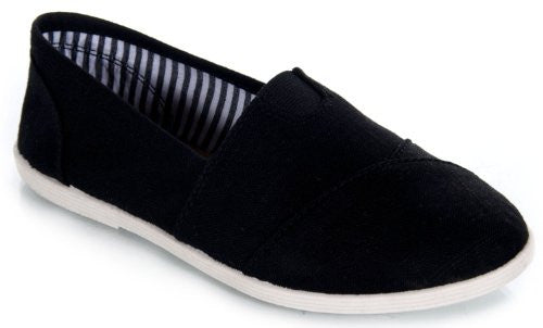 Soda Women Object Flats-Shoes,11 B(M) US,Black Linen