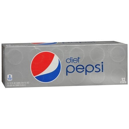 Diet Pepsi®, 12 Oz. Cans, 12/Pk, 2 Packs/Ct