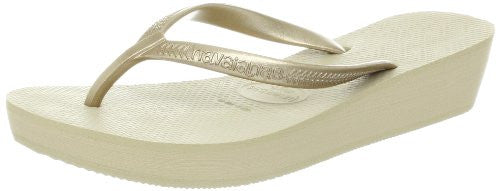 Havaianas Women's High Light Flip Flop,Sand Grey/Light Golden,38 BR/8-9 M US