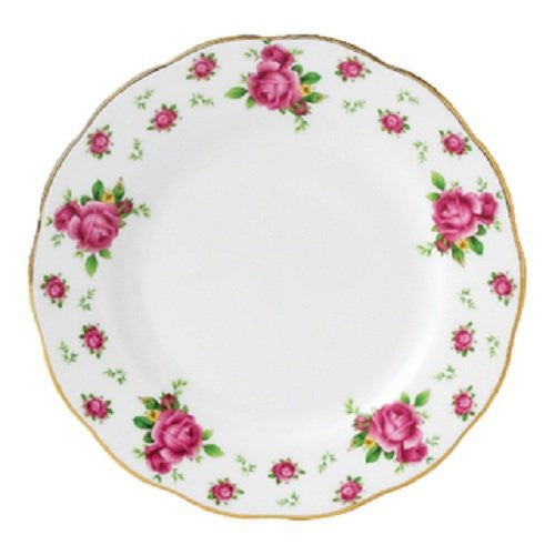 NEW COUNTRY ROSES WHITE VINTAGE DINNER PLATE 10.6""