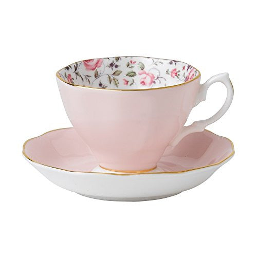 ROSE CONFETTI VINTAGE TEACUP & SAUCER SET