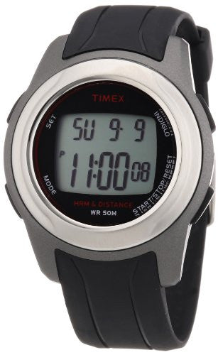 Men's Health Touch Plus Heart Rate Monitor Black Resin Band Watch
