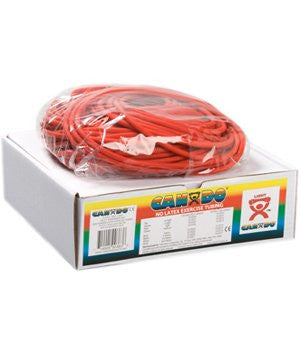 CanDo latex‐free exercise tubing, red, 100 feet dispenser