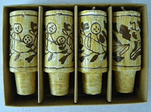 Wine Cork Candles Set of 4, Natural