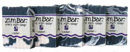 ALL-NATURAL GOAT'S MILK SOAP CEDAR ZUM BAR 3oz