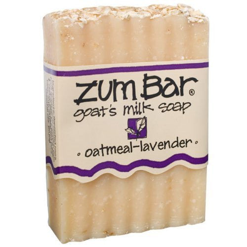 ALL-NATURAL GOAT'S MILK SOAP OATMEAL-LAVENDER ZUM BAR 3oz