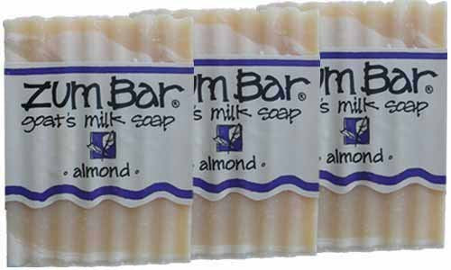 ALL-NATURAL GOAT'S MILK SOAP ALMOND ZUM BAR 3oz