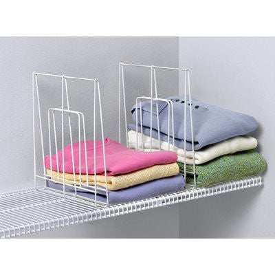 Large Wire Shelf Divider - White