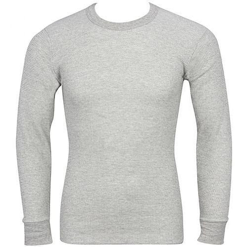 Indera - Mens Regular and Tall Long Sleeve Thermal Top, 800LS (Grey / X-Large)