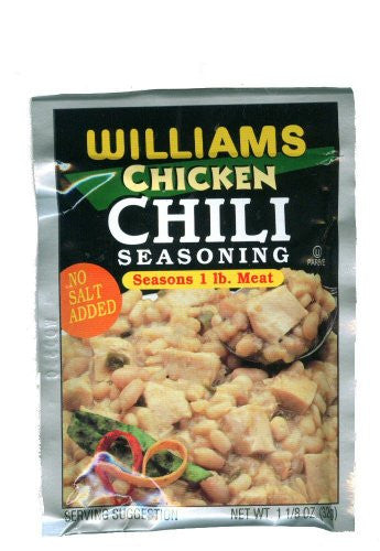 Williams Chili Seasoning White Chicken 1.125 OZ