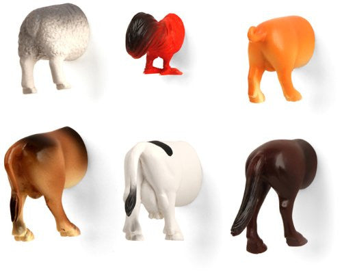 FARM ANIMAL BUTT MAGNETS S/6