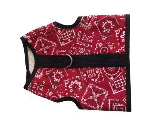 Kitty Holster Cat Harness, Extra Small, Red Bandana
