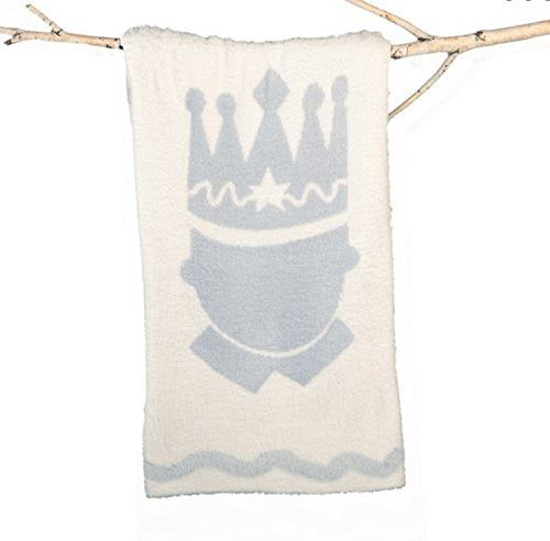 CozyChic Little Royals Receiving Blanket Blue Prince 35x35