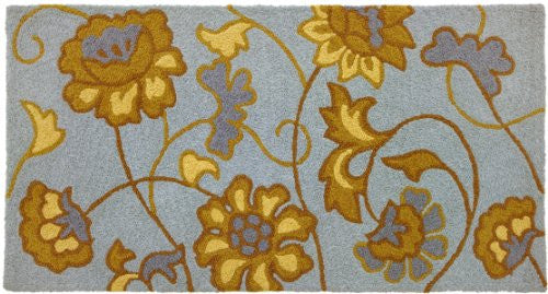 "Jacobean Flower - Spa Blue Bigbean 21"" x 43"""