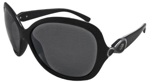 Francesca Shiny Black, Smoke TAC-Tical Polarized w. Flash Mirror