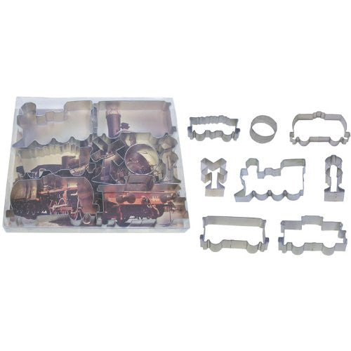 Train Tinplated 7pc Cookie Cutter