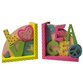 Peace & Love Bookends