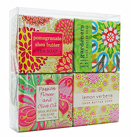 1.9oz Mini Soap, Pomegranate Shea Butter 1.9oz Mini Soap, Gardeners 1.9oz Mini Soap, Passion Flower And Olive Oil 1.9oz Mini Soap, Lemon Verbena