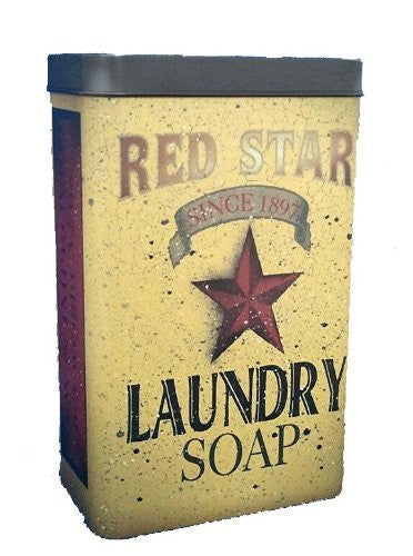 RED STAR LAUNDRY TIN