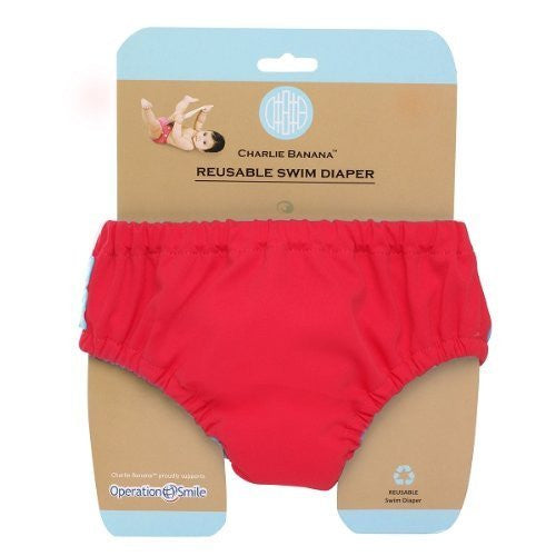 Hiphip Charlie Banana Swim Nappy Red Large