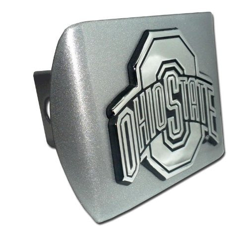 Ohio State Brushed Chrome Hitch Cover