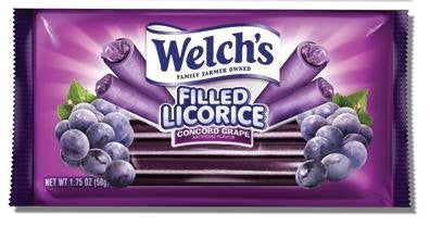 LICORICE WELCH'S GRAPE FILLED 1.75oz 24ct FRANKFORD - Package