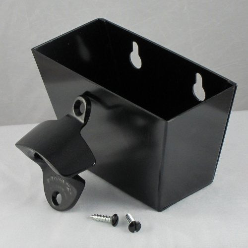 "Black 'Plain' STARR ""X"" Bottle Opener/Cap Catcher set"