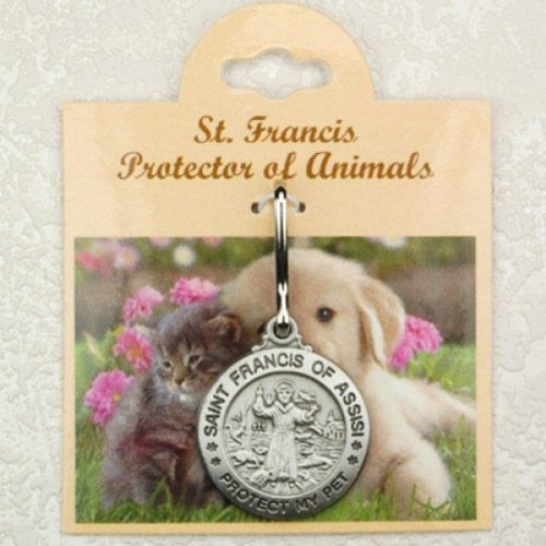 Pewter St FrancisProtect My Pet Medal