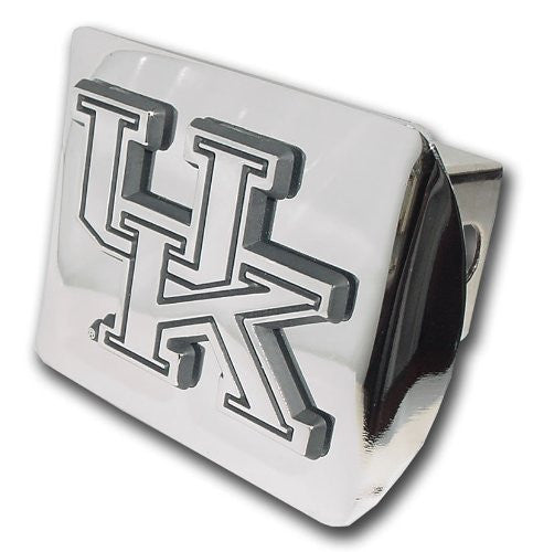 "Kentucky (""UK"") Shiny Chrome Hitch Cover"